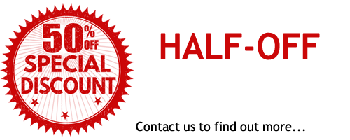 half off first months rent