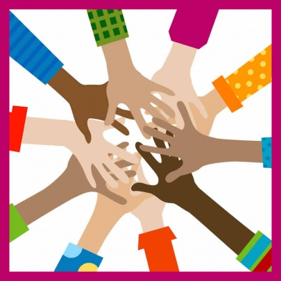 hands diverse togetherness-w-border-web