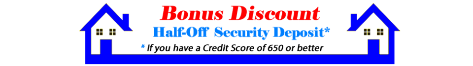 half off security deposit bouse rentals