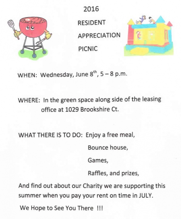 Picnic flyer in Belleville IL
