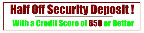 half off security deposit