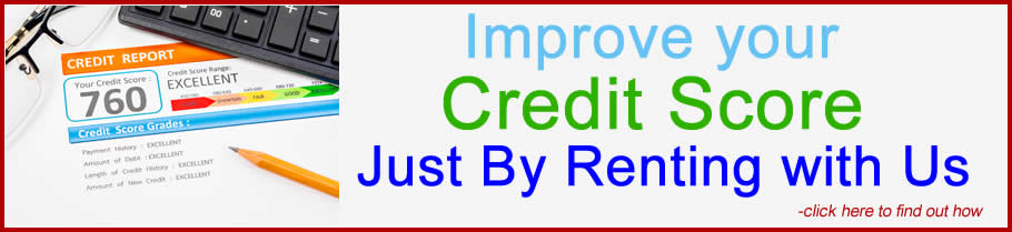 improve your credit by renting with us